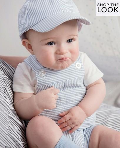 Babyblauwe salopette
